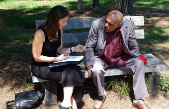 Final interview of the book with Archie Roach (Photo by Bob King)