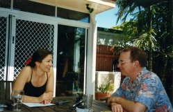 Interviewing Graeme Connors at his home in Mackay, QLD
