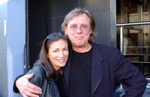 Author with legendary songwriter Harry Vanda at Flashpoint Studios, Sydney (Photo by Bob King)