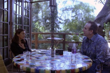 Interviewing Colin Hay in Topanga Canyon, Los Angeles (Photo by Henry Diltz)