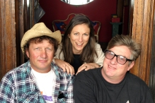 Interview day with Martin Plaza and Greedy Smith of Mental As Anything in Coogee, Sydney (Photo by Keith Saunders)