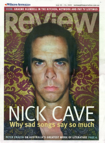 Extract from Nick Cave chapter in The Weekend Australian's Review supplement